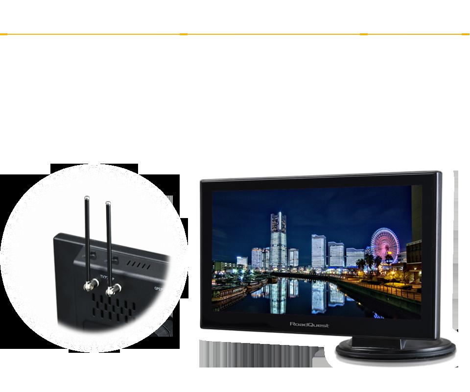 ナビと同時表示も可能な高精細フルセグTV(地デジ)搭載