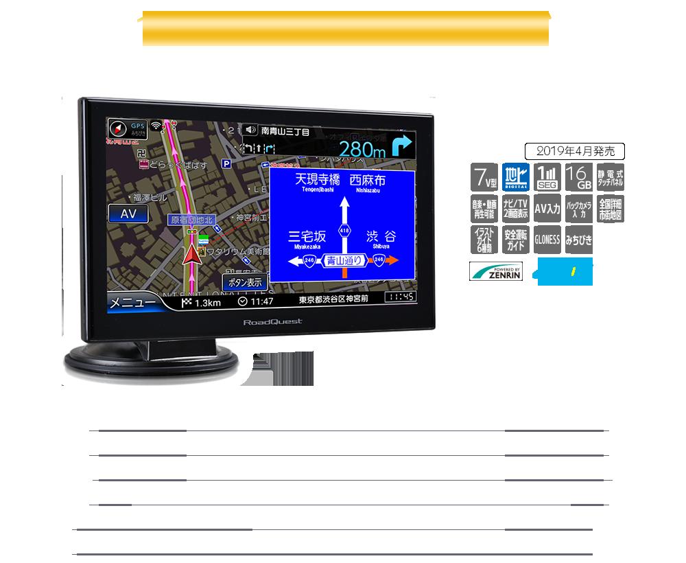 7インチ16GBフルセグ(地デジ)ナビ